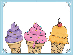 some types of ice cream