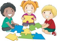 kids doing puzzles