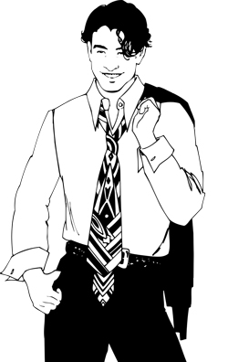 A collar and tie