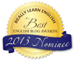 Best English Blog Awards 2013 Badge Blue