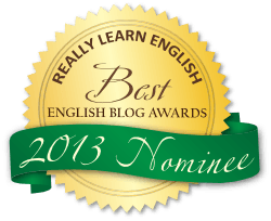 Best English Blog Awards 2013 Badge Green