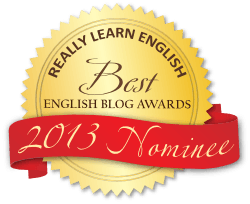 Best English Blog Awards 2013 Badge Red