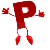 happy jumping letter P