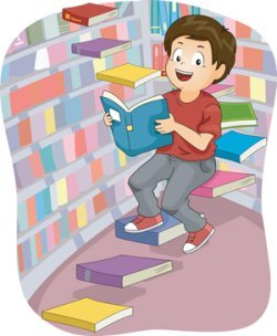 When he was a child, his favorite thing to do was to spend long afternoons in the multi-storey library down the street from his house.