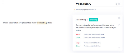 Grammarly Overused words