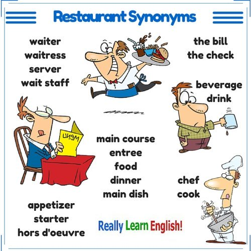 Restaurant synonyms