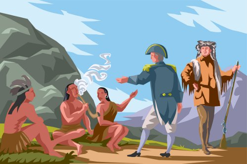 friendship between the British and Native American
