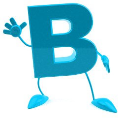 letter B figure waving