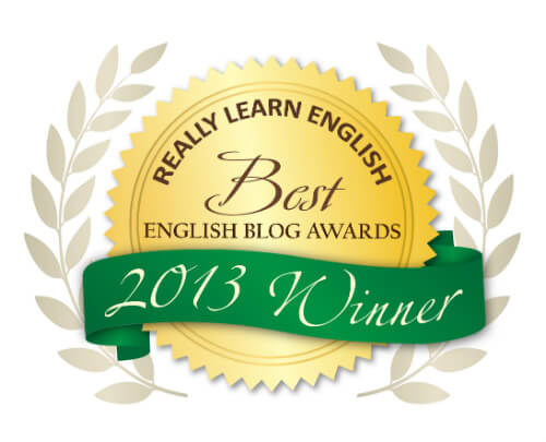 Best English Blog Awards 2013 WINNER
