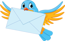 bird with letter
