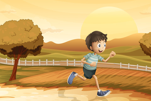 Jarrod runs a little farther each day as he tries to further his career as a runner.