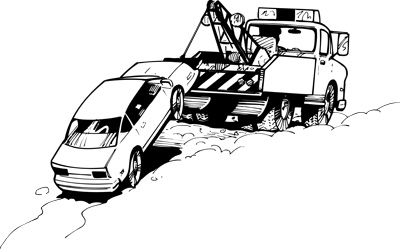 an accident with the company car