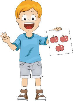child counting apples