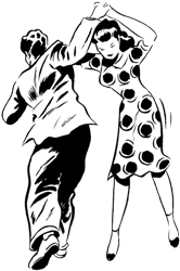 a couple dancing