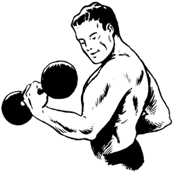 a man lifting weights