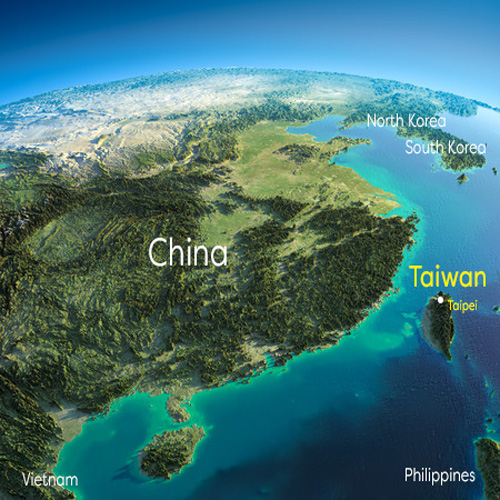 Earth in the morning. Eastern China and Taiwan