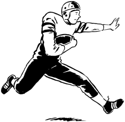 a football player running