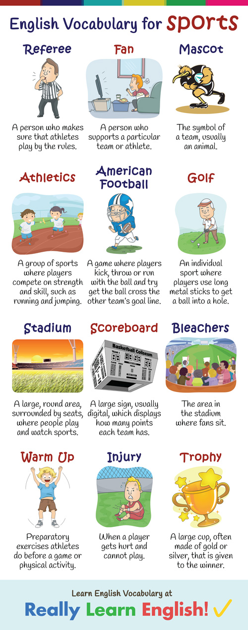 English Vocabulary for Sports (Illustrated)