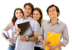 students smiling