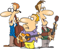 a band playing musical instruments
