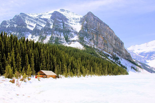 Frozen Lake Louise, Banff, Canada