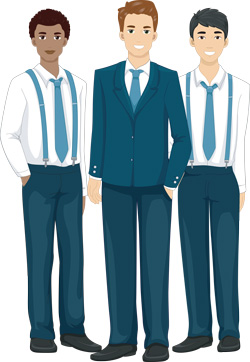 men in official clothes