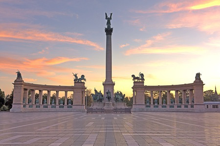 Heroes square or Hosok ter on Budapest