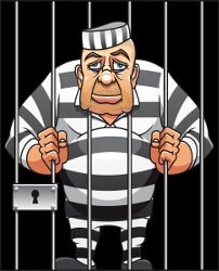 man in jail