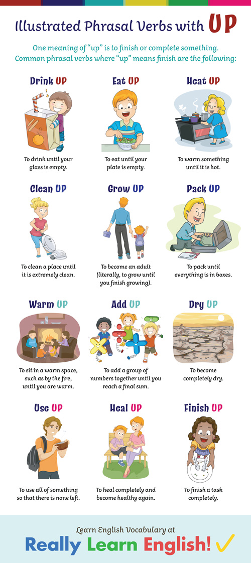 Illustrated Phrasal Verbs with UP