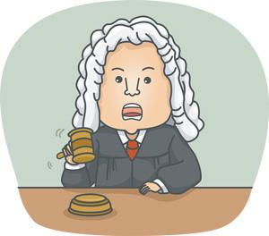 The judge censures her for behaving so carelessly.