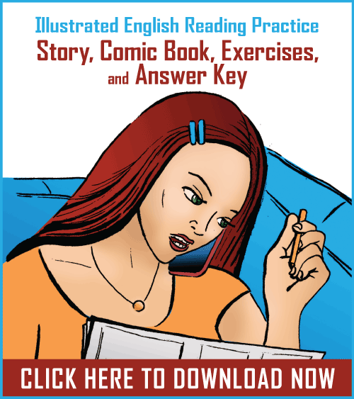Download Our New Comic Book for English Learners (Story, Comic Book, Exercises, and Answer Key)