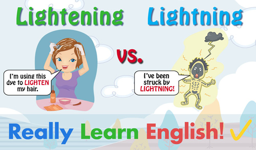 Lightening vs. Lightning, What Is the Difference?