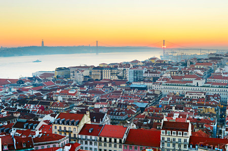 Lisbon skyline Porugal