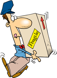 man with package