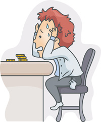 If someone is handling a stressful situation badly, you could say that they are not faring well.