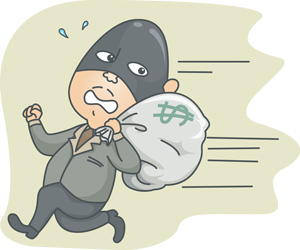 The robbery interrupted the normal course of the business day.