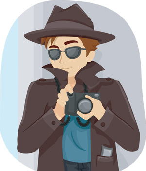 a paparazzi with a camera