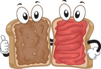 Peanut butter and jelly are two very complementary foods.