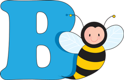 letter B with a bee