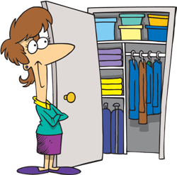 She likes to keep her closet very organized.