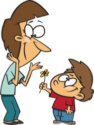 chico con flor