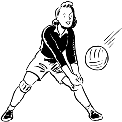 a girl playing volleyball
