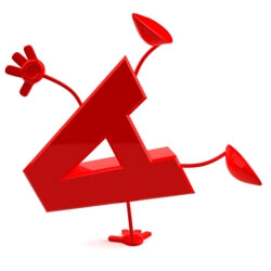 happy acrobatic letter A