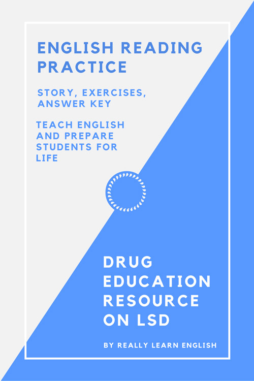 Drug education resource: story, exercises, answer key.