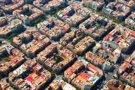 Typical buildings of Barcelona