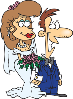 a couple in love getting married
