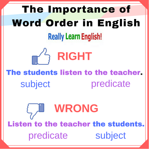 Word Order Pinterest Graphic