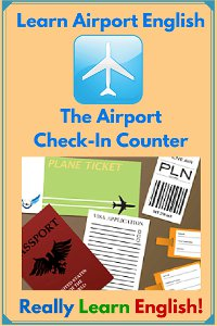 airport English graphic