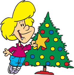 On Christmas Day, some families give each other gifts under the Christmas tree.