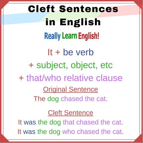 Cleft Sentences